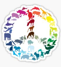 Animals of Peace Sticker