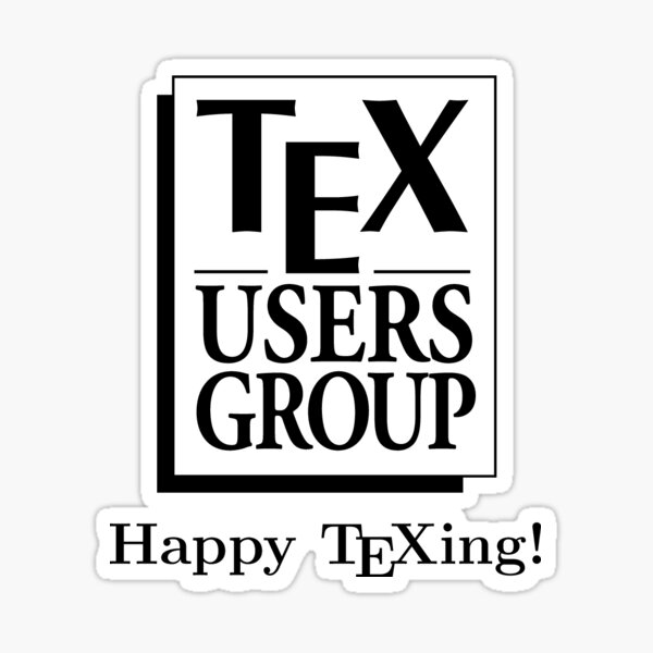 TUG logo with happy texing wish Sticker