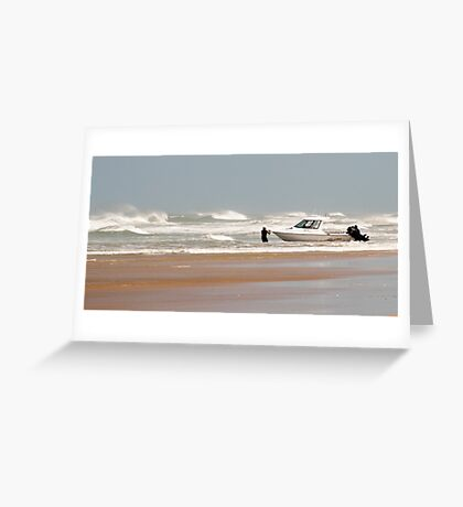 Gone Fishing - Baylys Beach boaties Greeting Card