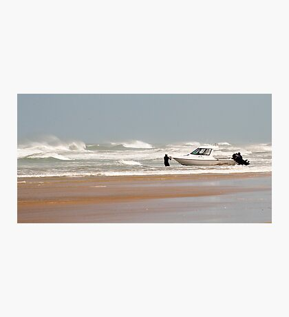 Gone Fishing - Baylys Beach boaties Photographic Print