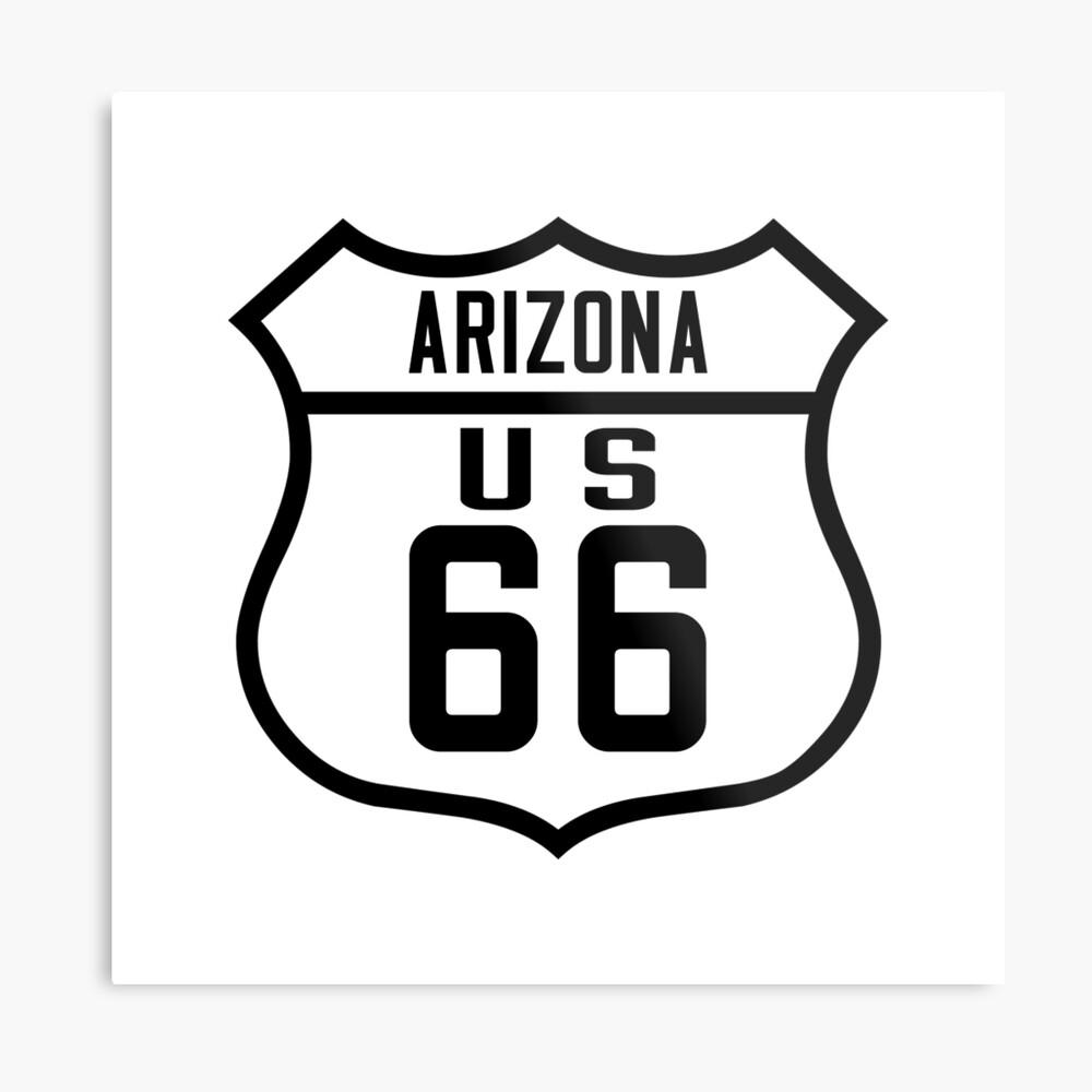 Route 66 Arizona Road Sign Metal Print