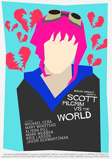 Scott Pilgrim Verses The World - Saul Bass Inspired Poster (Untextured) by Alex Clark