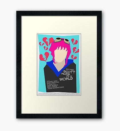 Scott Pilgrim Verses The World - Saul Bass Inspired Poster (Untextured) Framed Print