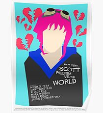 Scott Pilgrim Verses The World - Saul Bass Inspired Poster (Untextured) Poster