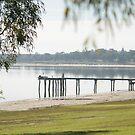 Pier at Lake Bonney, Barmera, SA by Cazzz