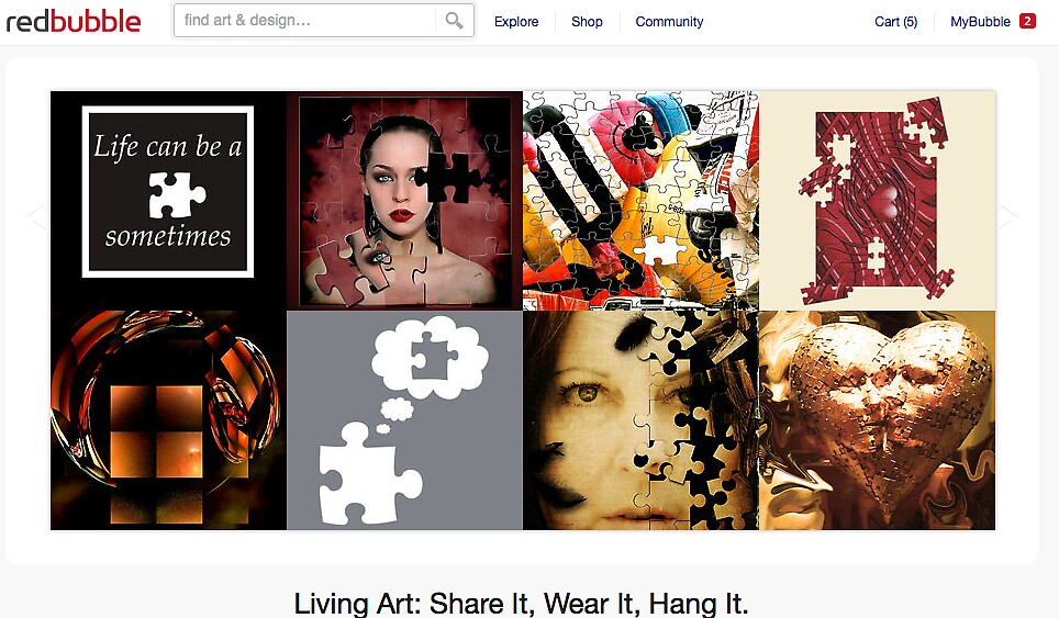 Life Can be a Puzzle - 4 September 2011 by The RedBubble Homepage