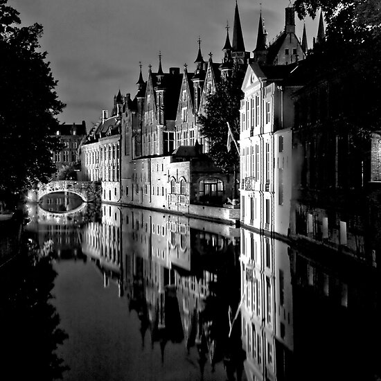 Canals of Bruges by Stephen Knowles