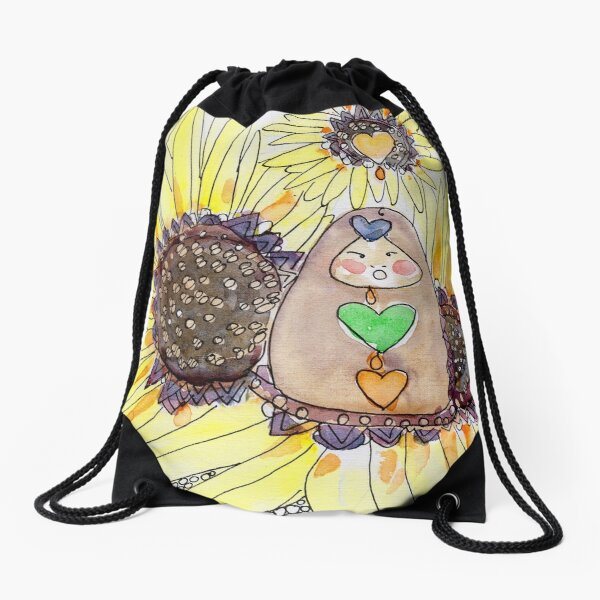 Little Earth Mama and the Nectar of Prosperity Drawstring Bag