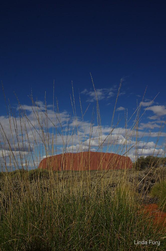 Uluru through the Spinifex by Linda Fury