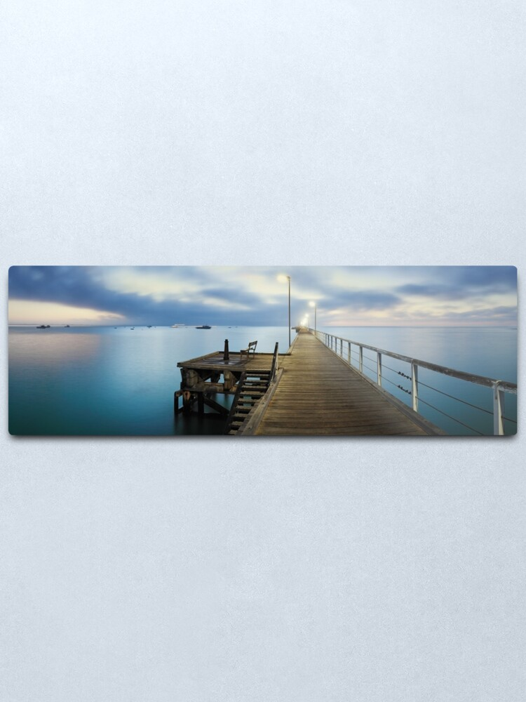 Alternate view of Beachport Jetty, South Australia Metal Print