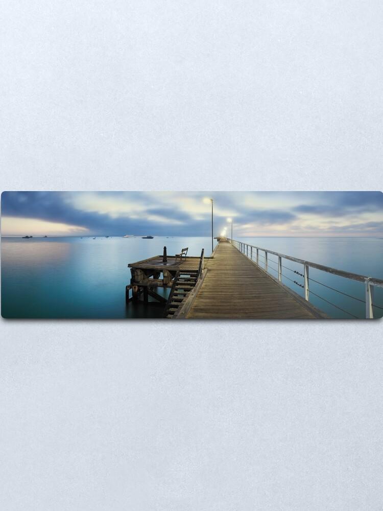 Alternate view of Beachport Jetty, South Australia Metal Print