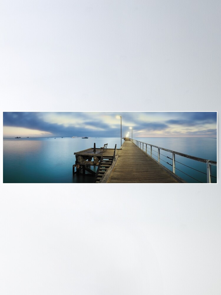 Alternate view of Beachport Jetty, South Australia Poster