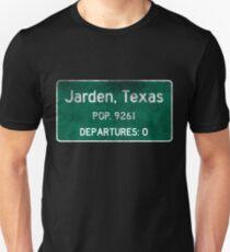 Jarden, Texas Road Sign Unisex T-Shirt
