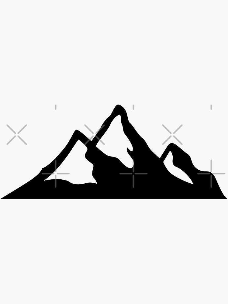 Skiing Mountain Silhouette by DuxDesign