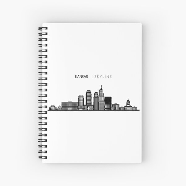 Kansas City Skyline Art Spiral Notebook