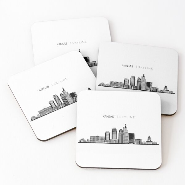 Kansas City Skyline Art Coasters (Set of 4)