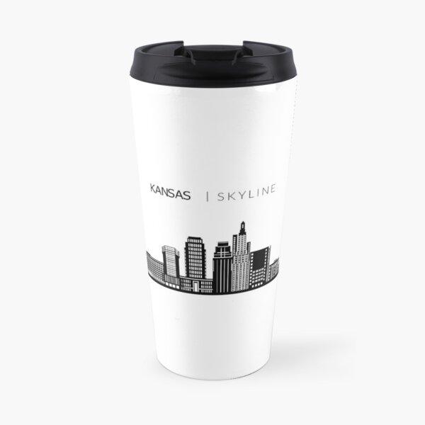 Kansas City Skyline Art Travel Mug