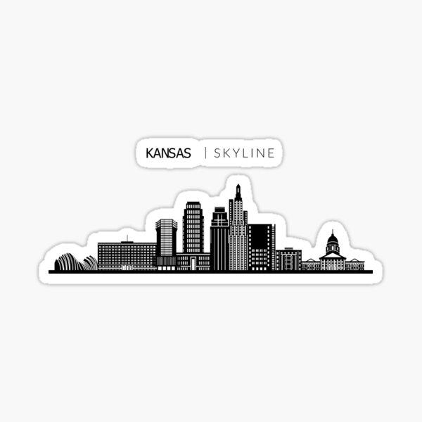 Kansas City Skyline Art Sticker