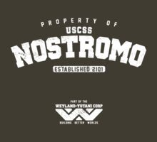 Property of USCSS Nostromo - white