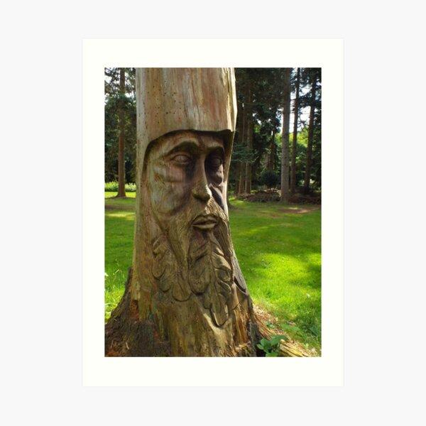 Tree Trunk Man Art Print