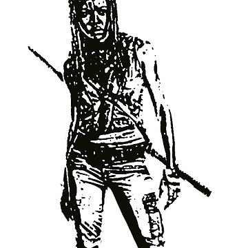Michonne Walking Dead by manuwiza