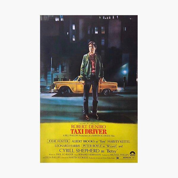 Taxi Driver 1976 Movie Poster Art Lámina fotográfica