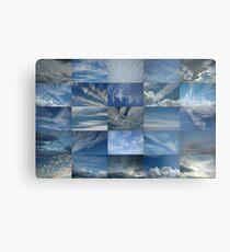 Clouds in a Blue Sky 5x5 Metal Print