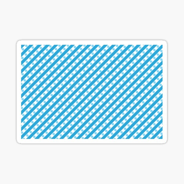 Blue Stripes and Dots Sticker