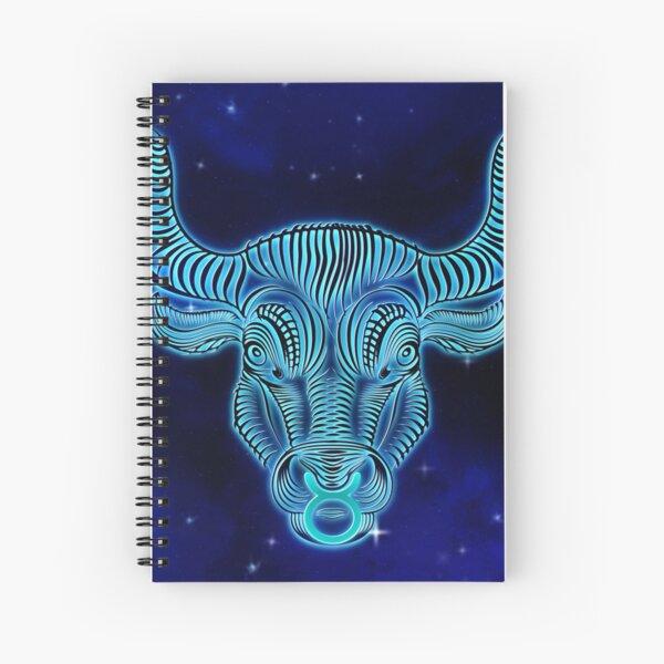 Blue Taurus Spiral Notebook