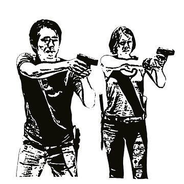 Glenn & Maggie Walking Dead by manuwiza