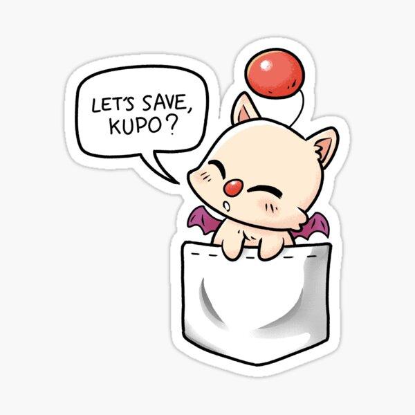Pocket Moogle Let's save kupo Sticker