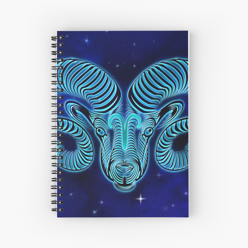 Blue Aries Spiral Notebook