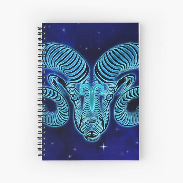 Blue Aries Spiral Notebook