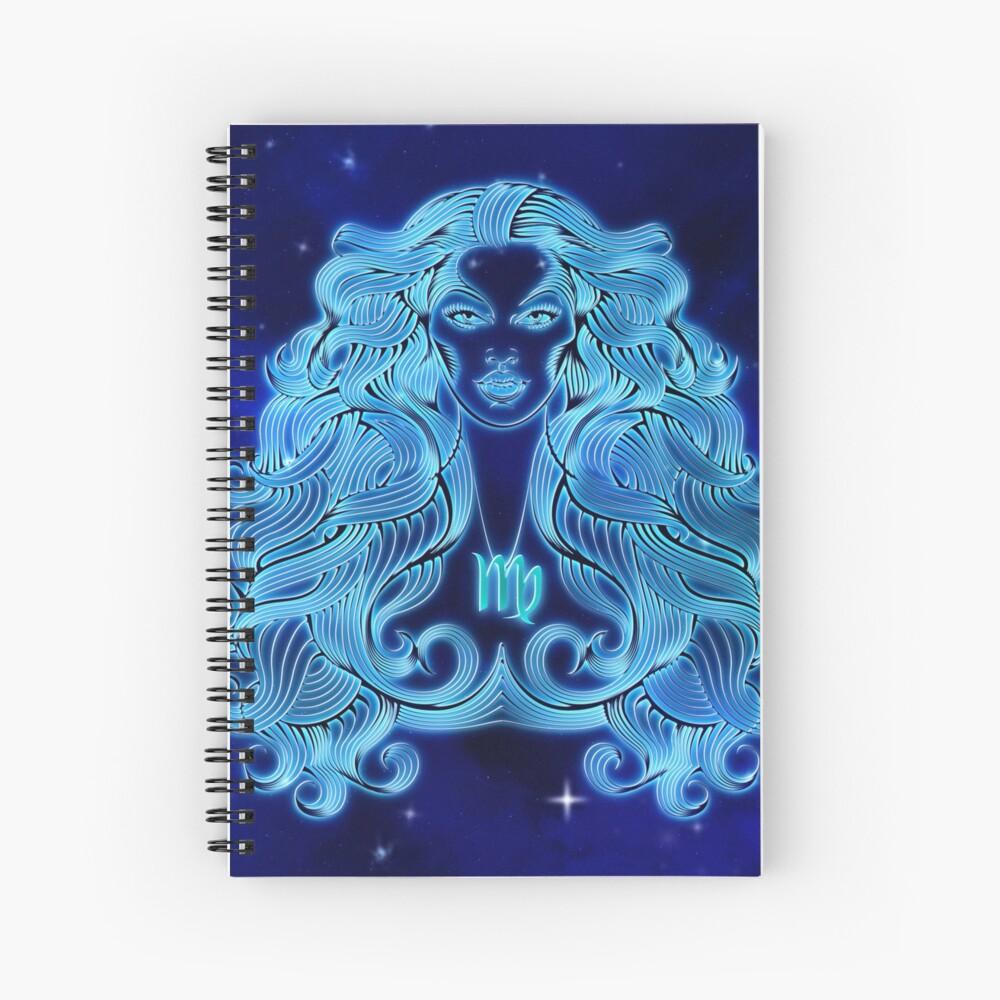 Blue Virgo Lady Spiral Notebook