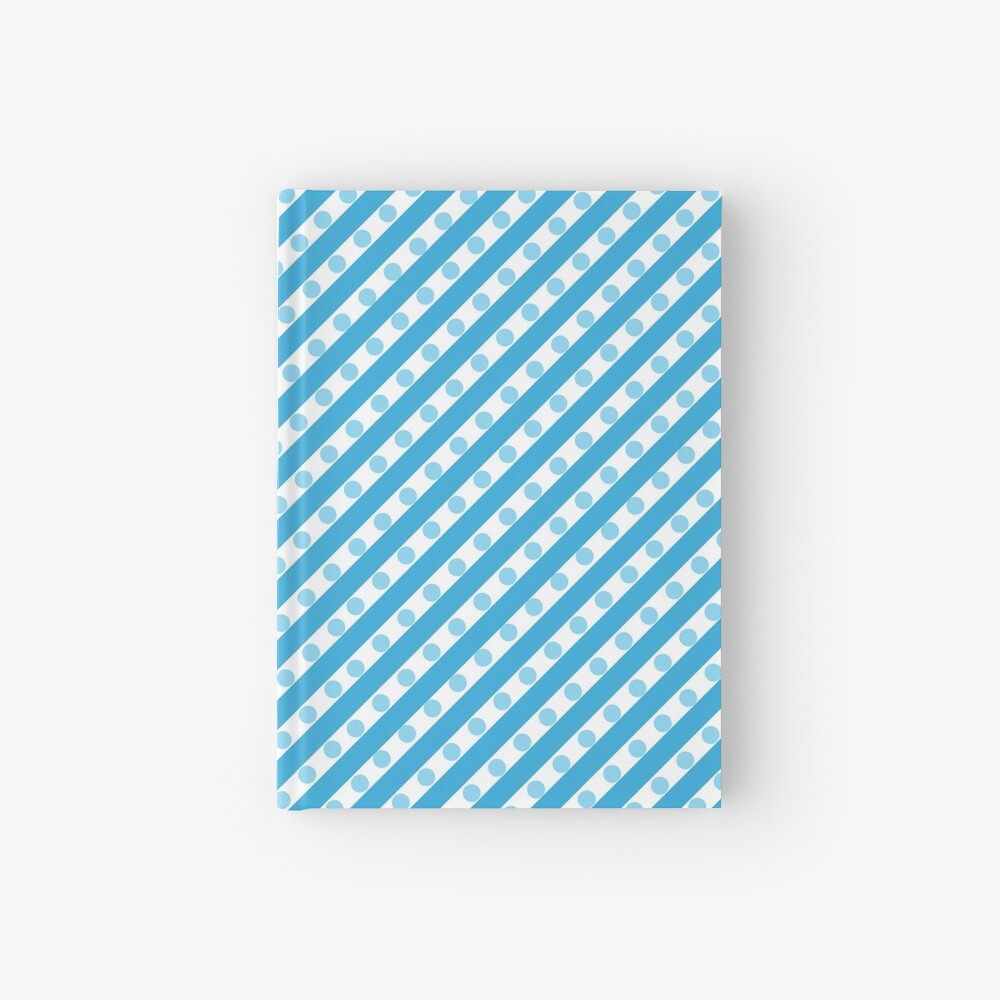 Blue Stripes and Dots Hardcover Journal