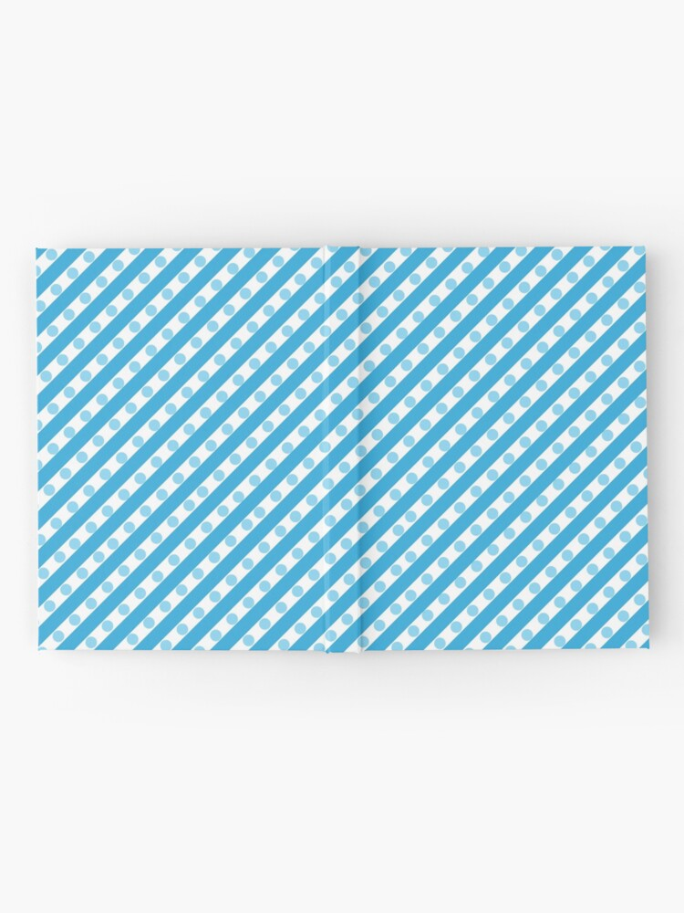Alternate view of Blue Stripes and Dots Hardcover Journal