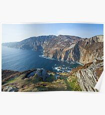 Sliabh Liag sea cliffs in Co. Donegal Poster