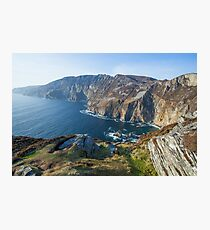 Sliabh Liag sea cliffs in Co. Donegal Photographic Print