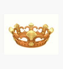 Royal gold crown Art Print