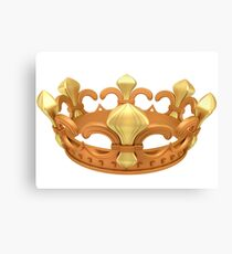 Royal gold crown Canvas Print