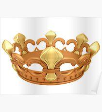 Royal gold crown Poster