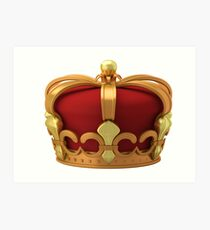 Gold imperial crown Art Print
