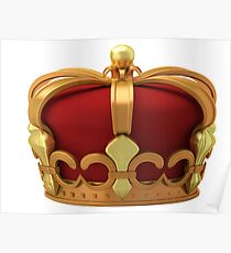 Gold imperial crown Poster