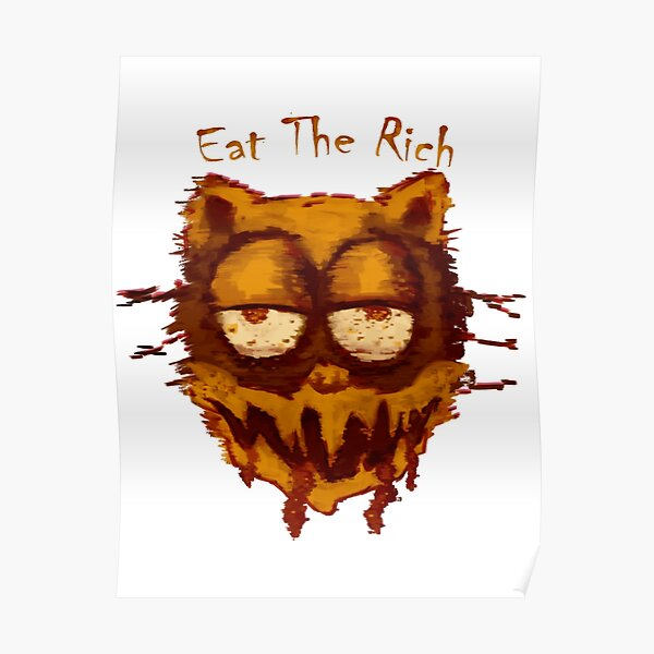 Garfield Cursed Posters Redbubble