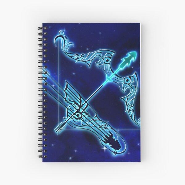 Blue Sagittarius Astrology Spiral Notebook