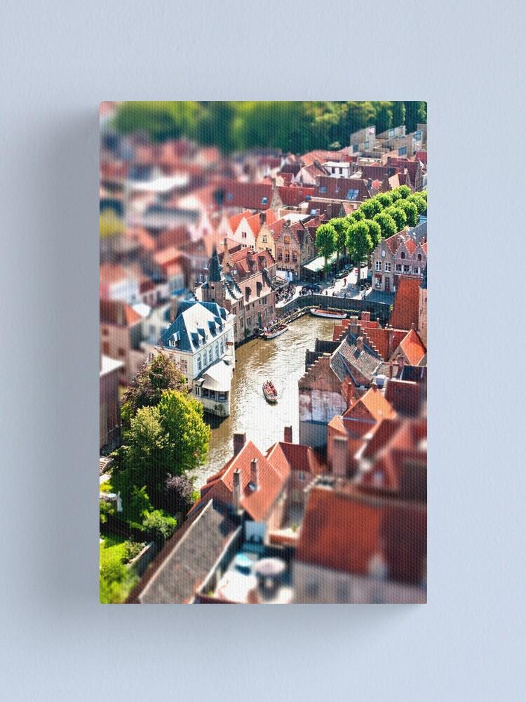Alternate view of Bruges (tilt and shift) Canvas Print