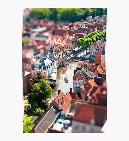 Bruges (tilt and shift) Poster
