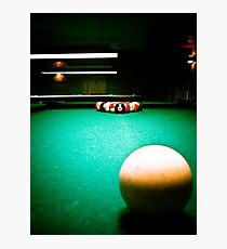 A Game of Pool 01 Photographic Print
