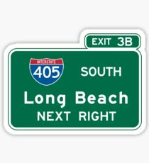 Long Beach, CA Road Sign Sticker