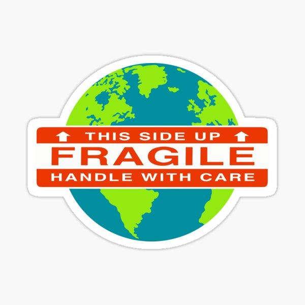 Fragile planet Sticker